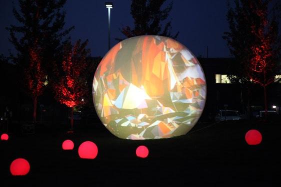 Angus sphère vidéo projection