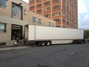 Le camion au départ du studio pour moonGARDEN @ Discovery Green Park et Avenida, Houston