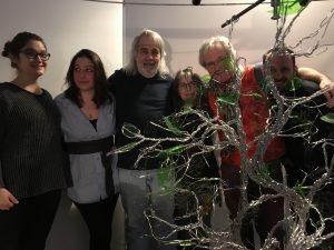 L'équipe de Silk Road, Marielle Dalpé, Léa Nivet, André Bazinet, Elizabeth Berrien (Wire Lady), Benjamin Broche (animateur)