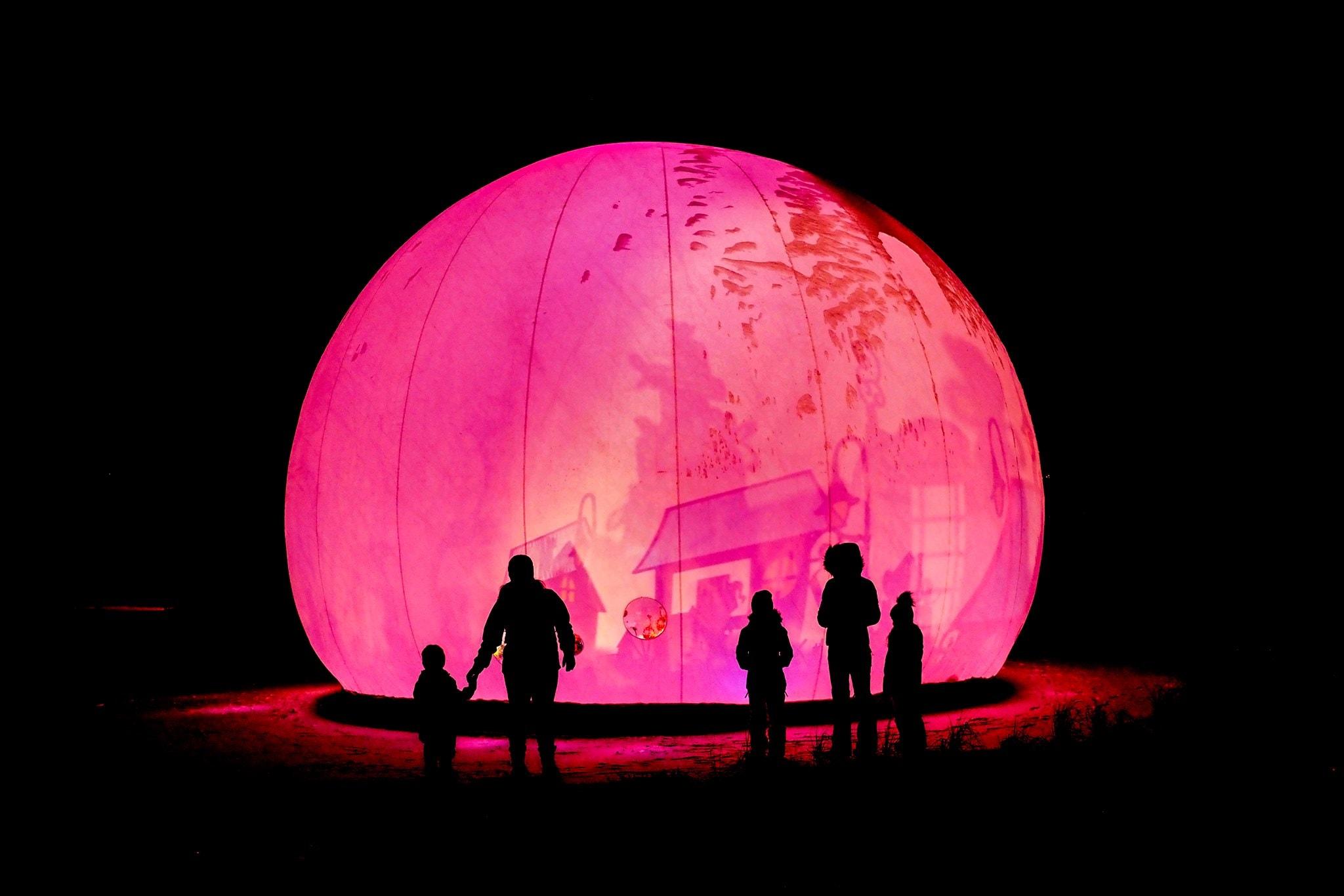 Jardin céleste grande bulle